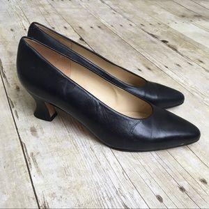 EVAN-PICONE Black Career Pumps Heels Made in Spain